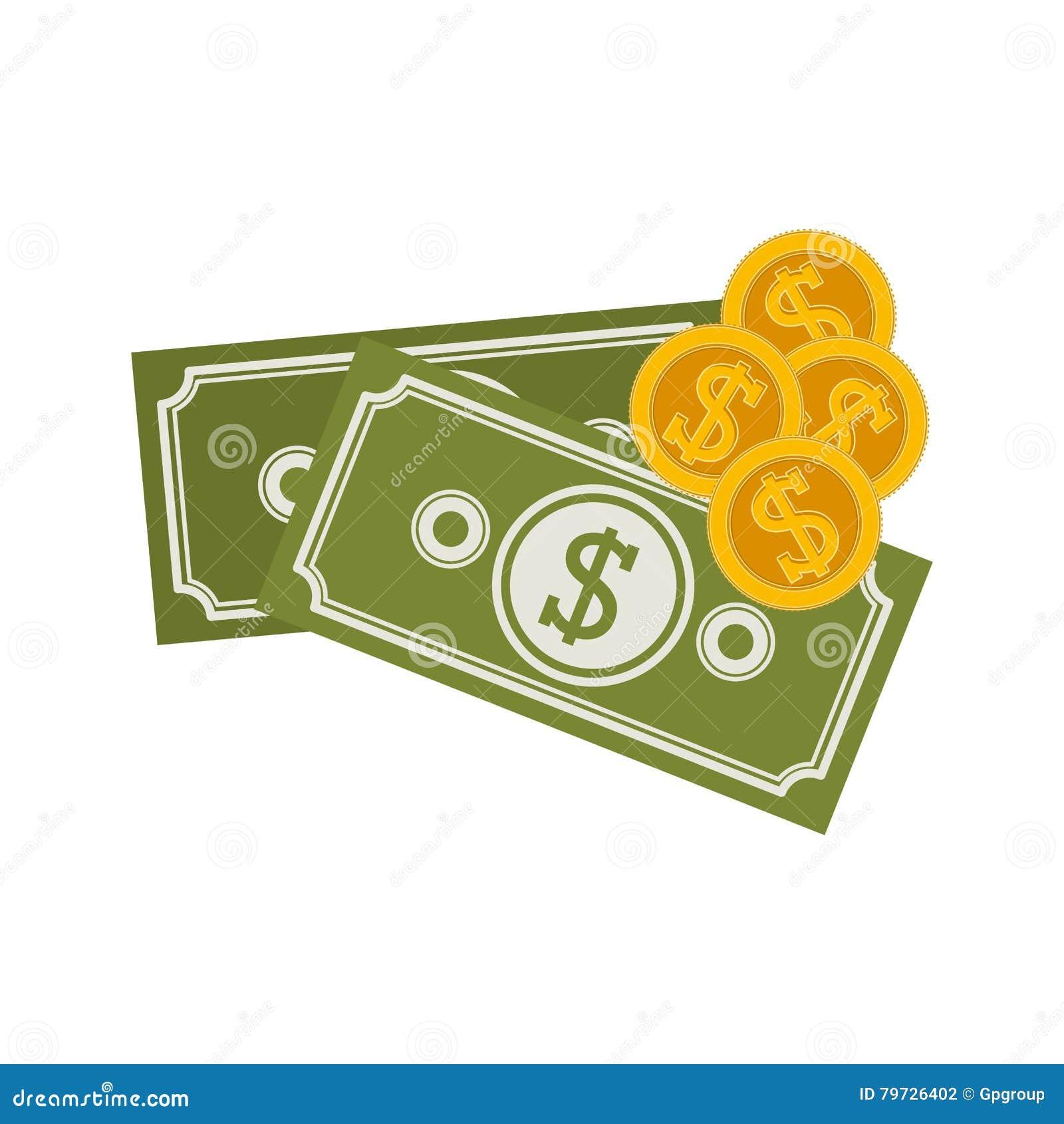 Silueta con las cuentas y las monedas