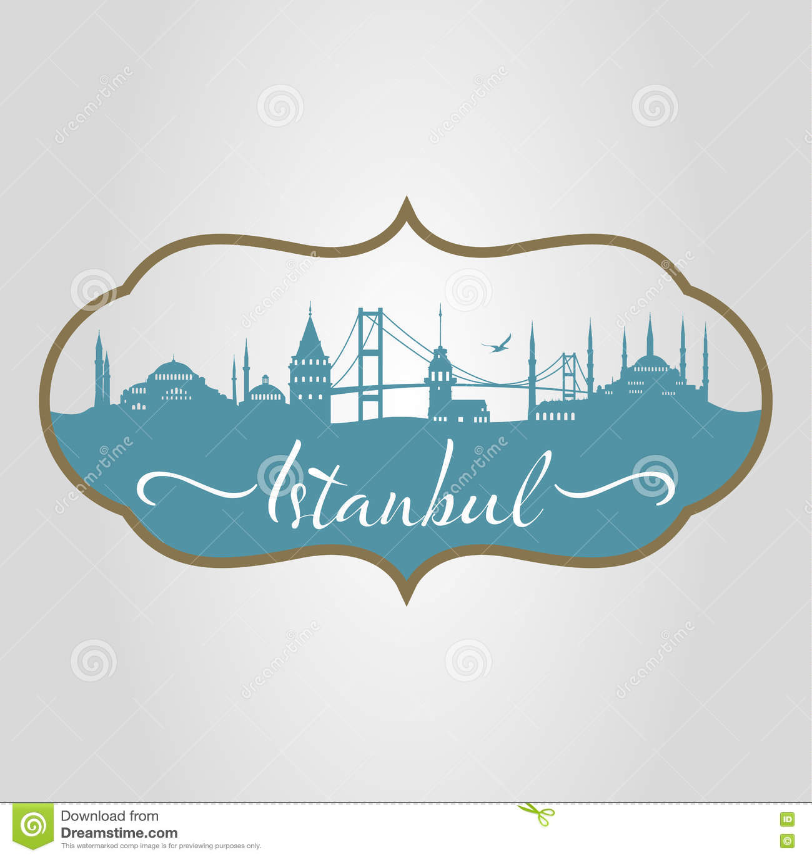 Silueta de Estambul