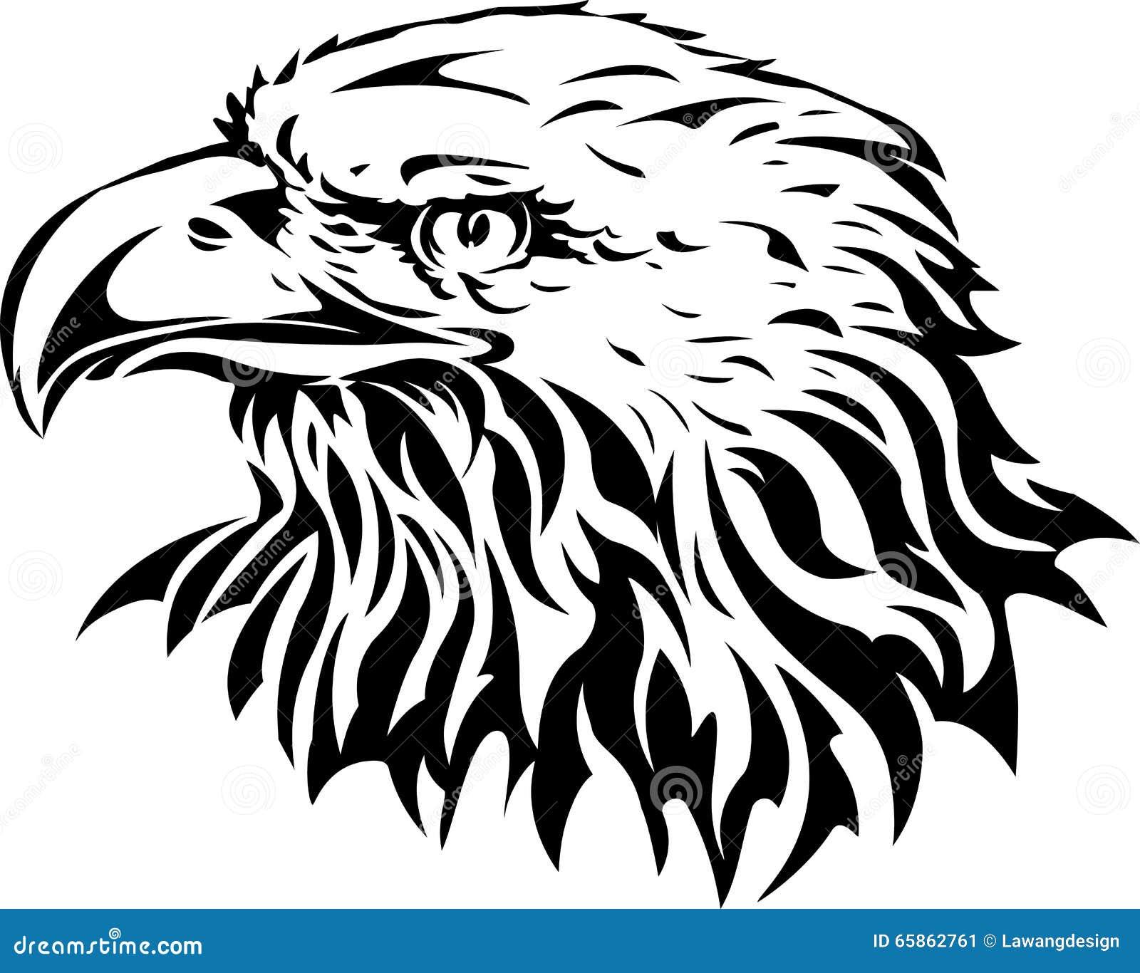 silueta de la cabeza del águila ilustración del vector