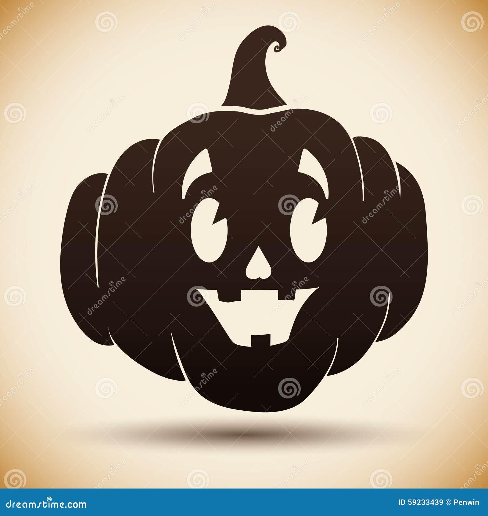 Download Silueta De La Calabaza De Halloween Ilustración del Vector - Ilustración de cultura, halloween: 59233439
