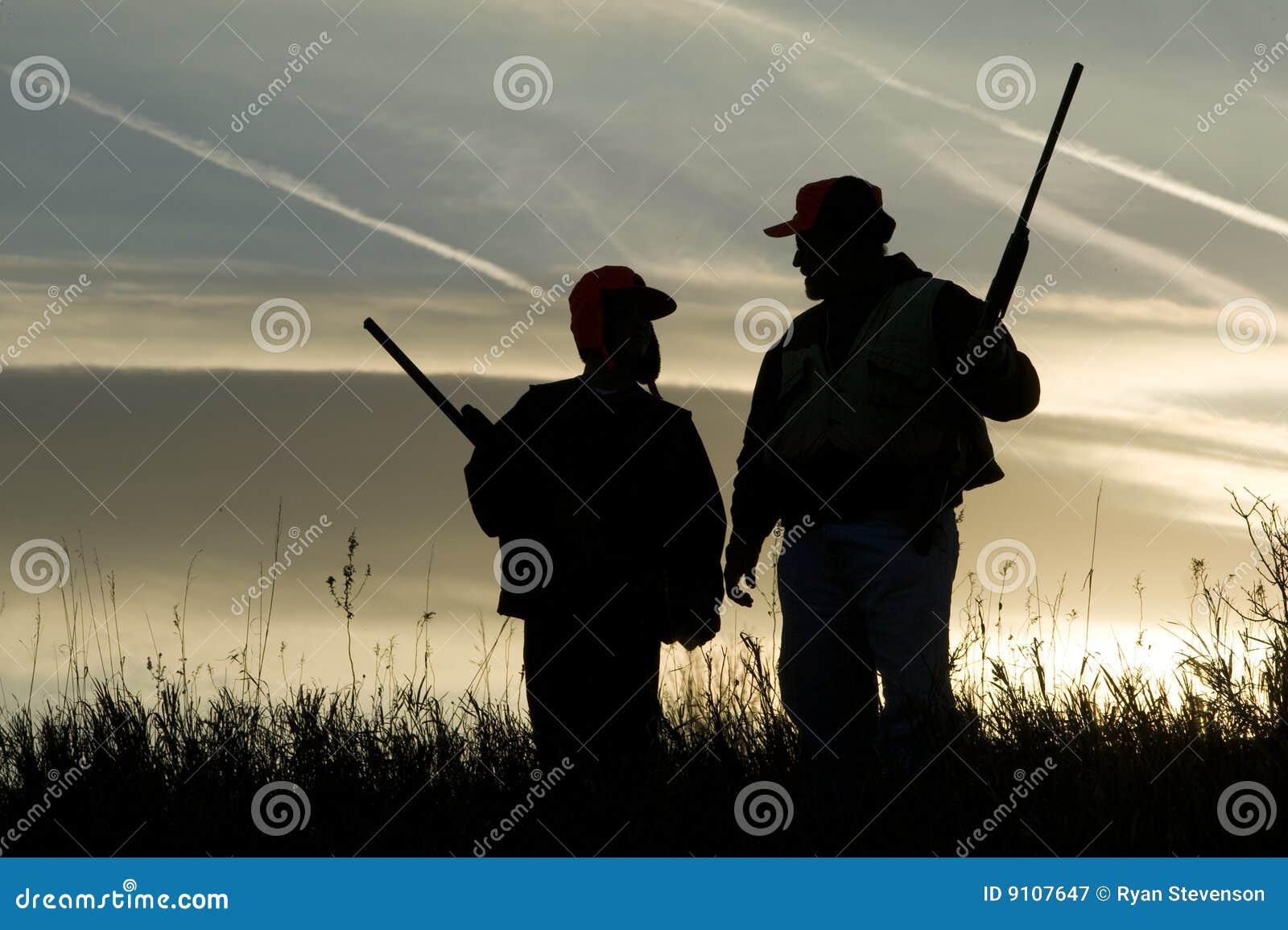 Silueta de la caza