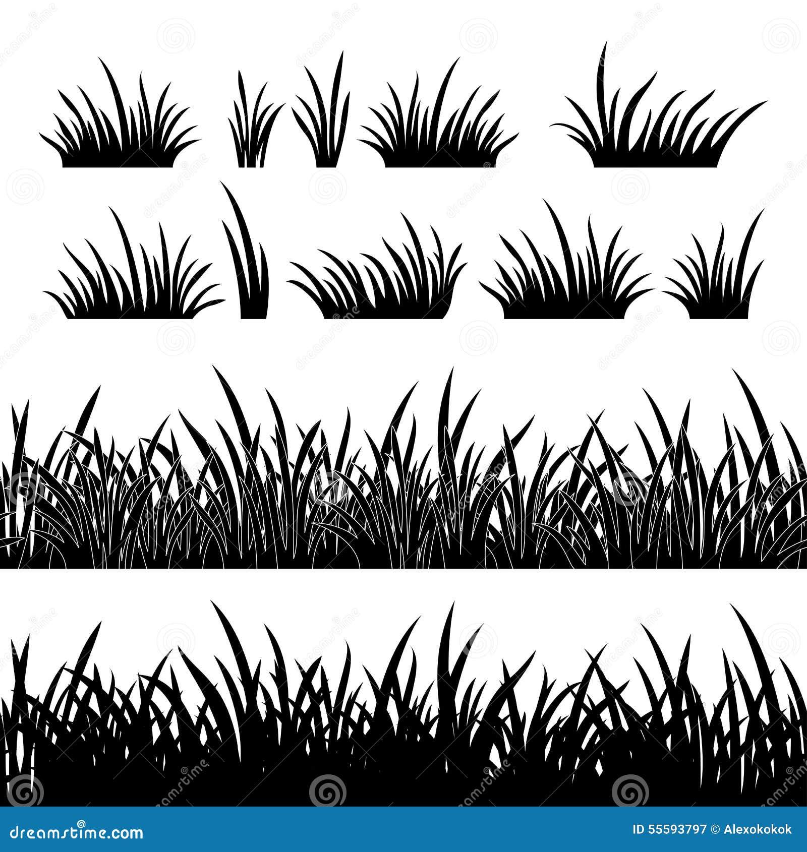 Silueta de la hierba, inconsútil