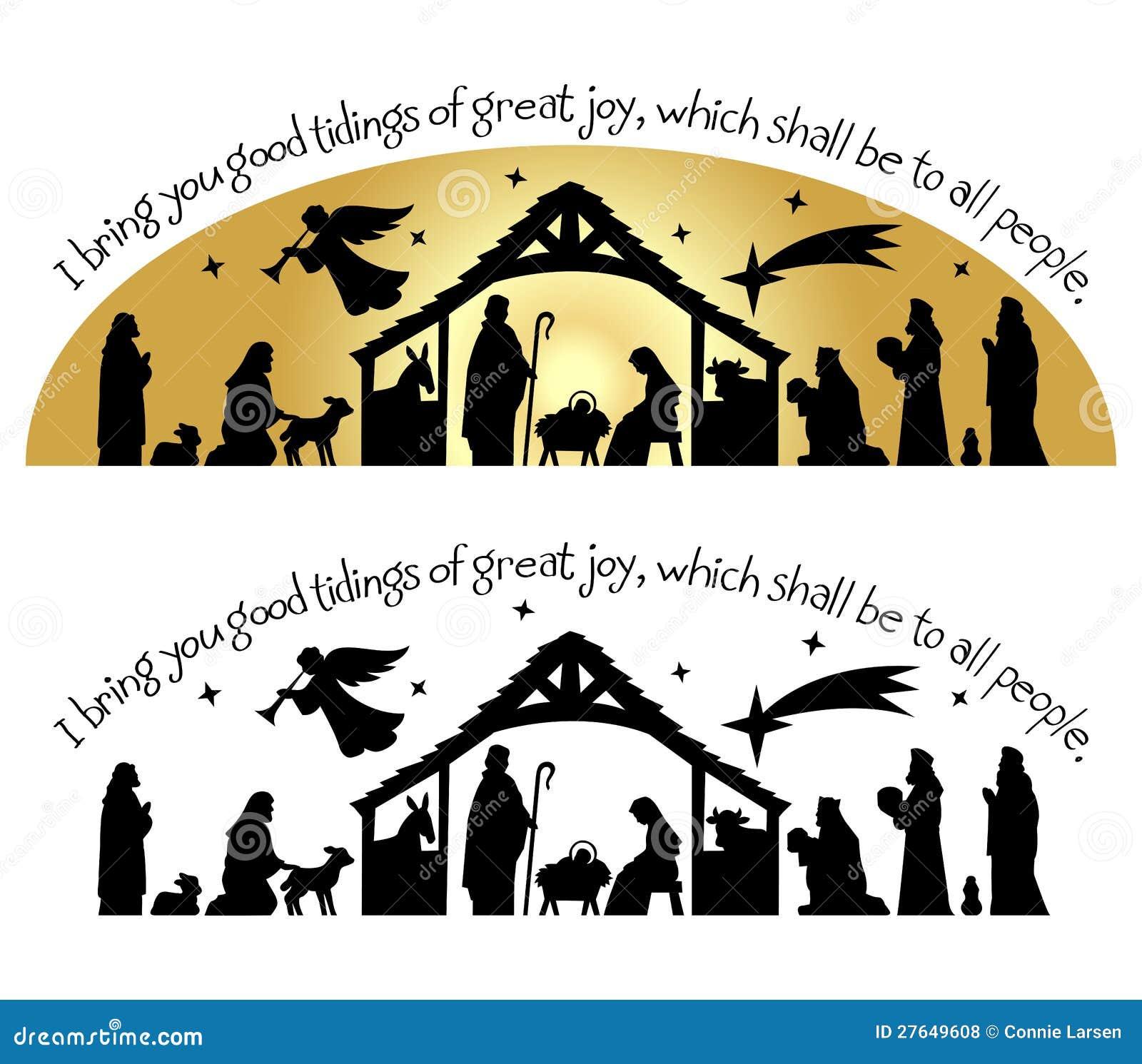 Silueta de la Navidad de la natividad