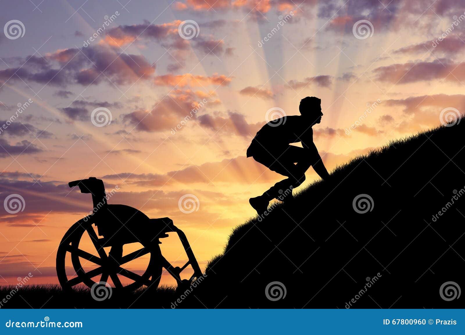 Silueta de la persona discapacitada