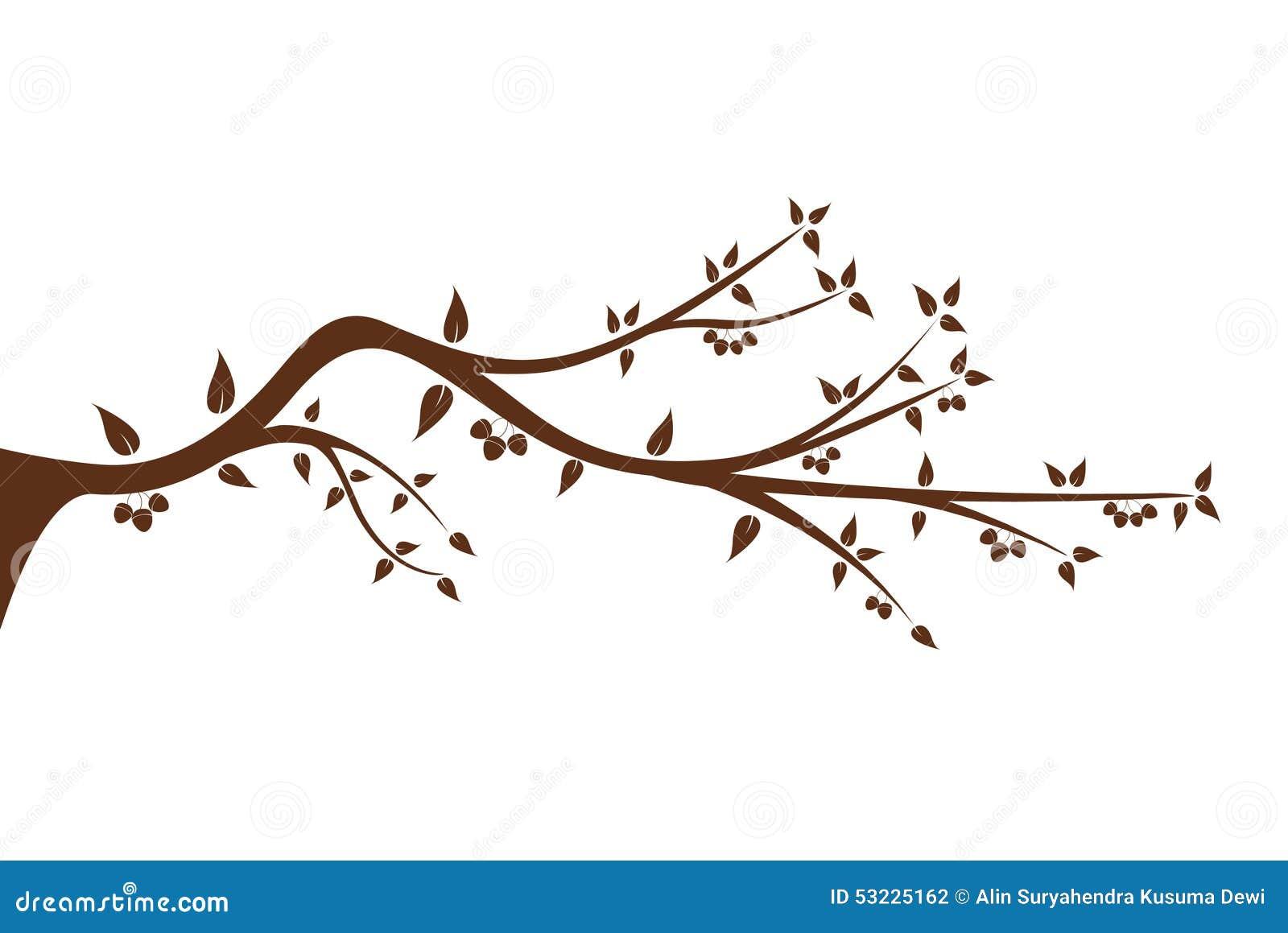 Silueta de la rama de rbol para su decoraci n ilustraci n - Ramas de arboles ...