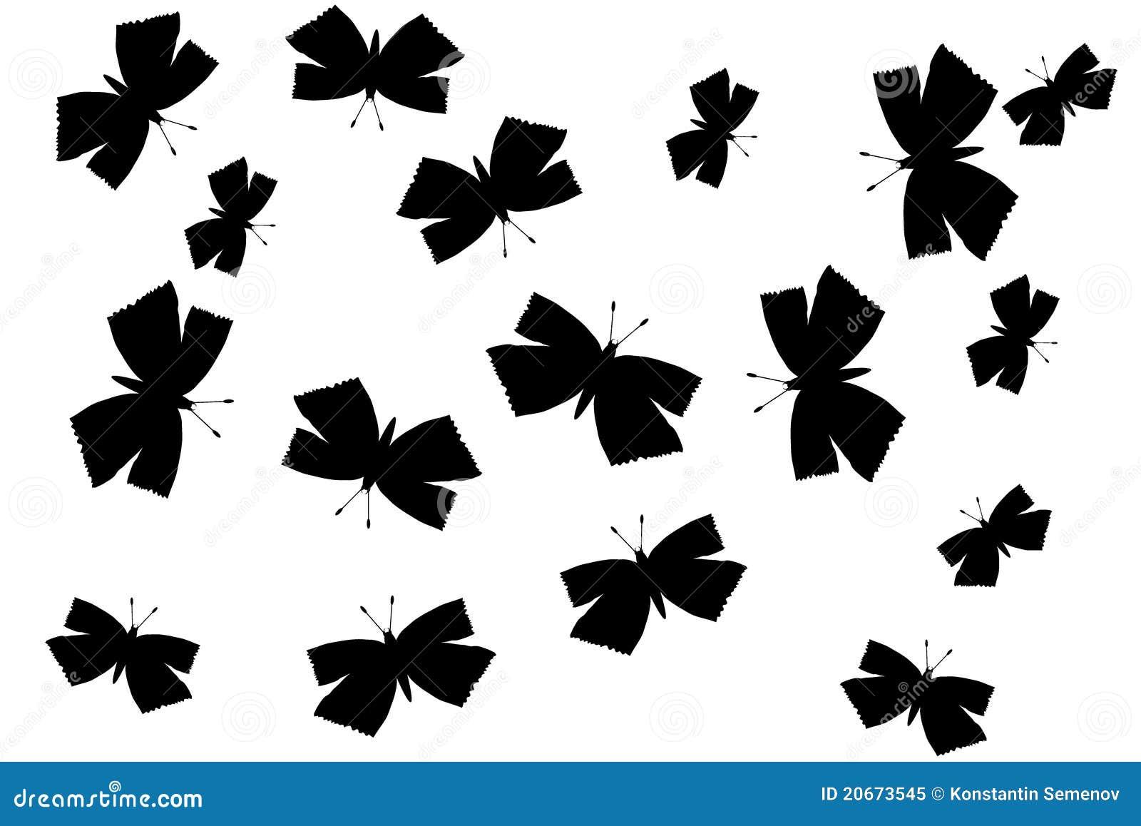 Silueta de las mariposas