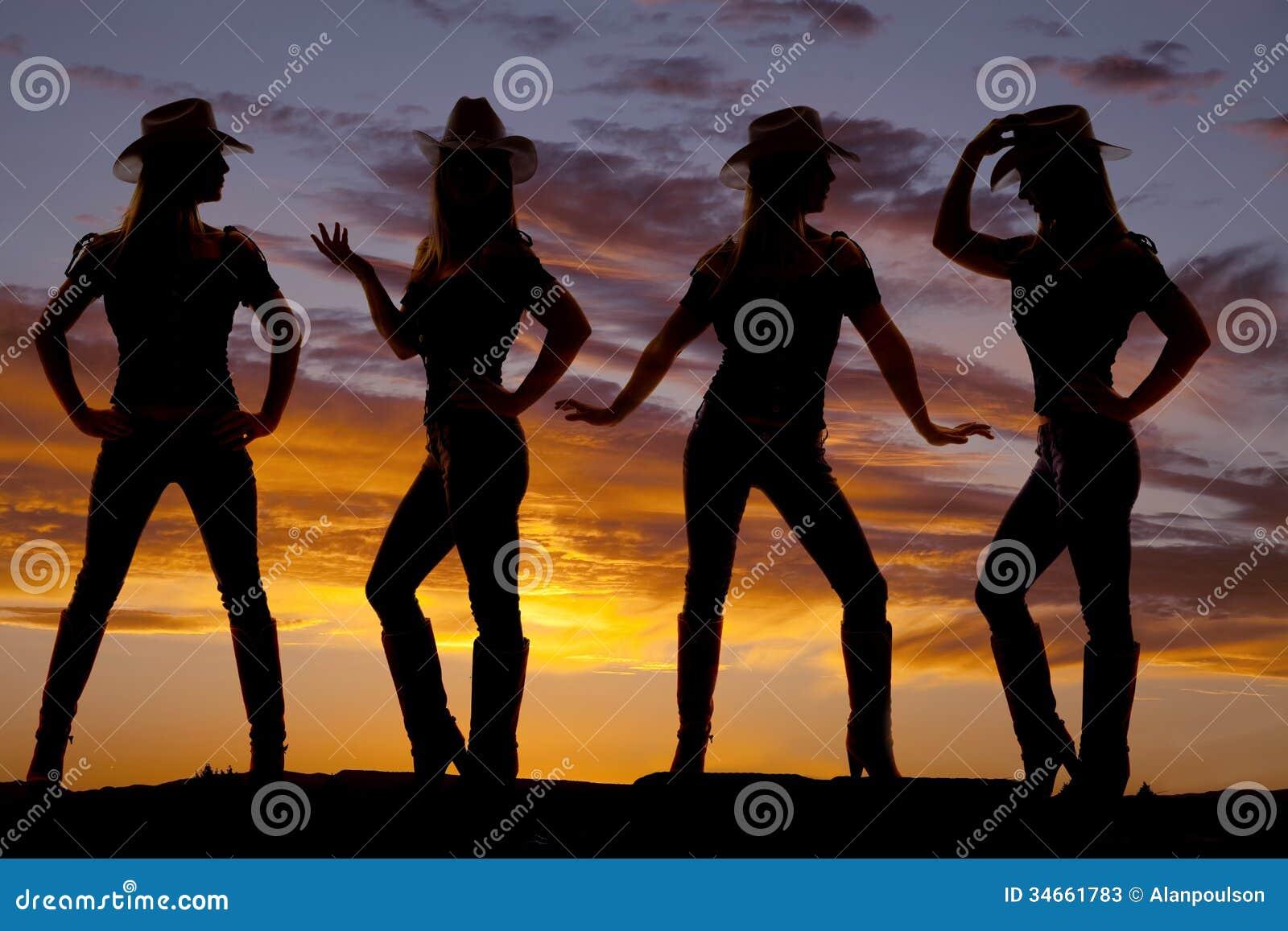 Silueta de las vaqueras imagen de archivo Imagen de jeans 34661783