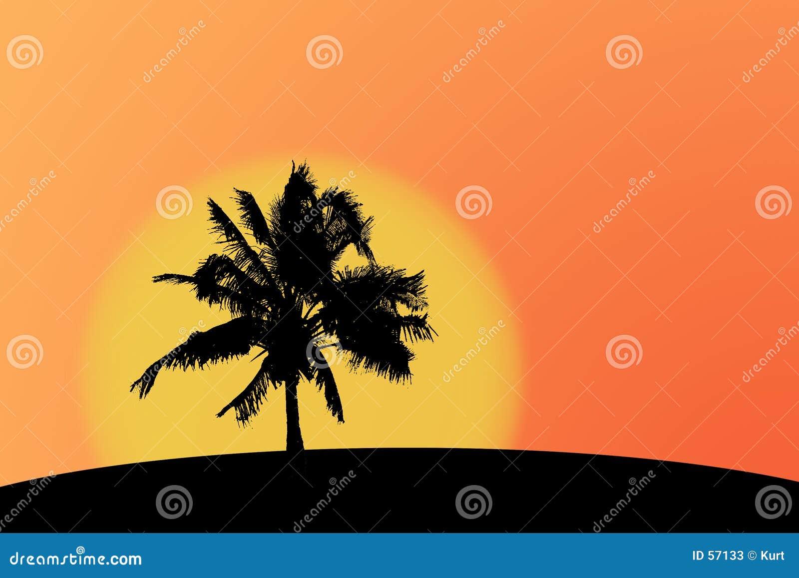 Silueta de Palmtree