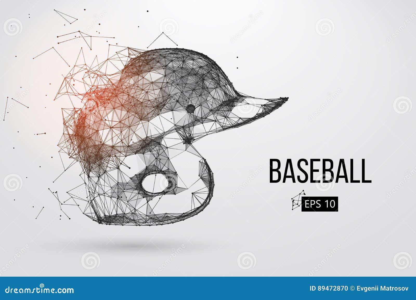 Silueta de un casco del béisbol Ilustración del vector