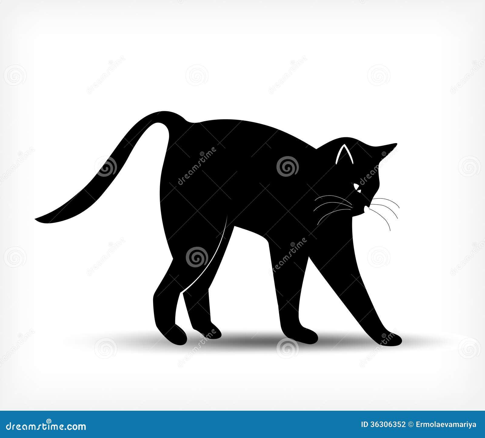 silueta de gato negro-#6
