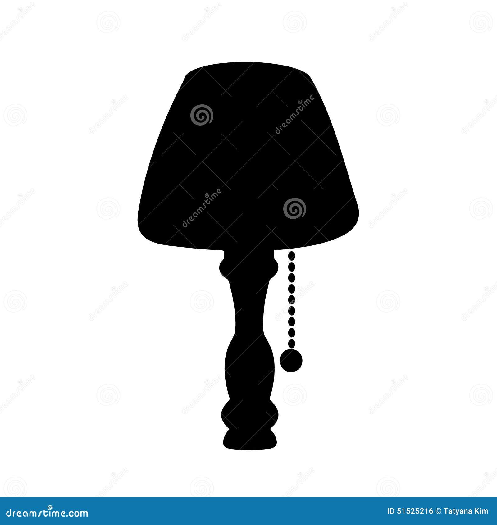 Una Ilustración De Pie de De Lámpara Silueta Stock PTOuiwkXlZ