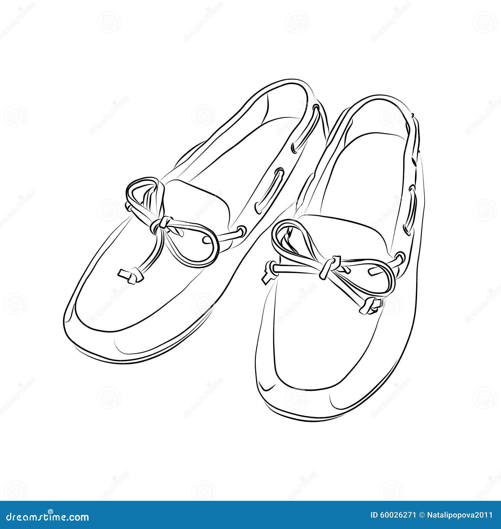 Silueta De Un Zapatos En Un De Fondo Blanco Ilustración del Vector 441cf4
