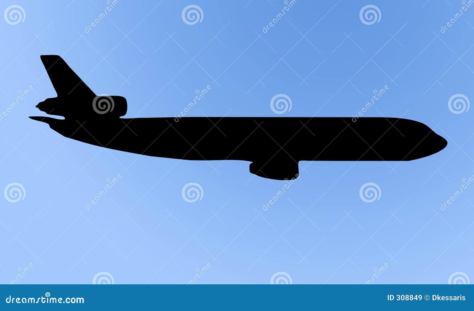 Silueta del aeroplano