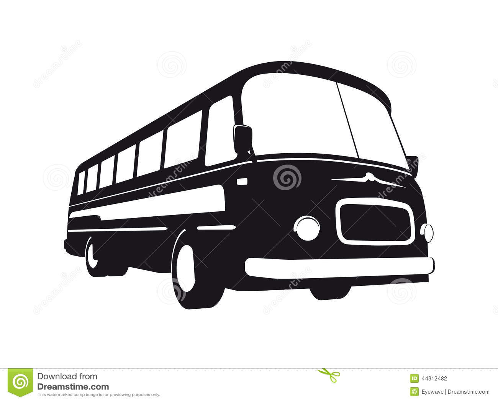 Silueta Del Autob 250 S Del Vintage Ilustraci 243 N Del Vector