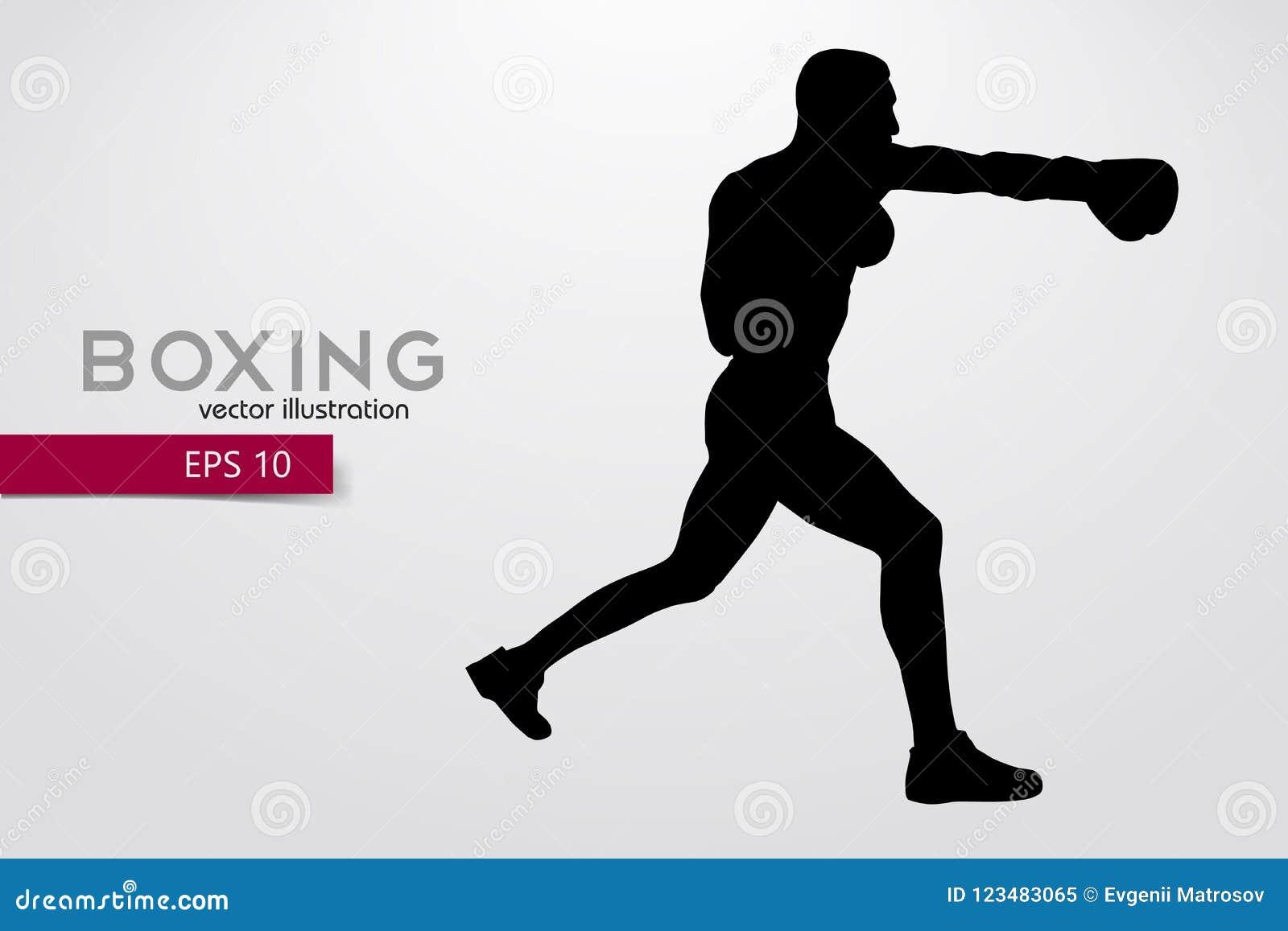 Silueta del boxeo boxeo Ilustración del vector