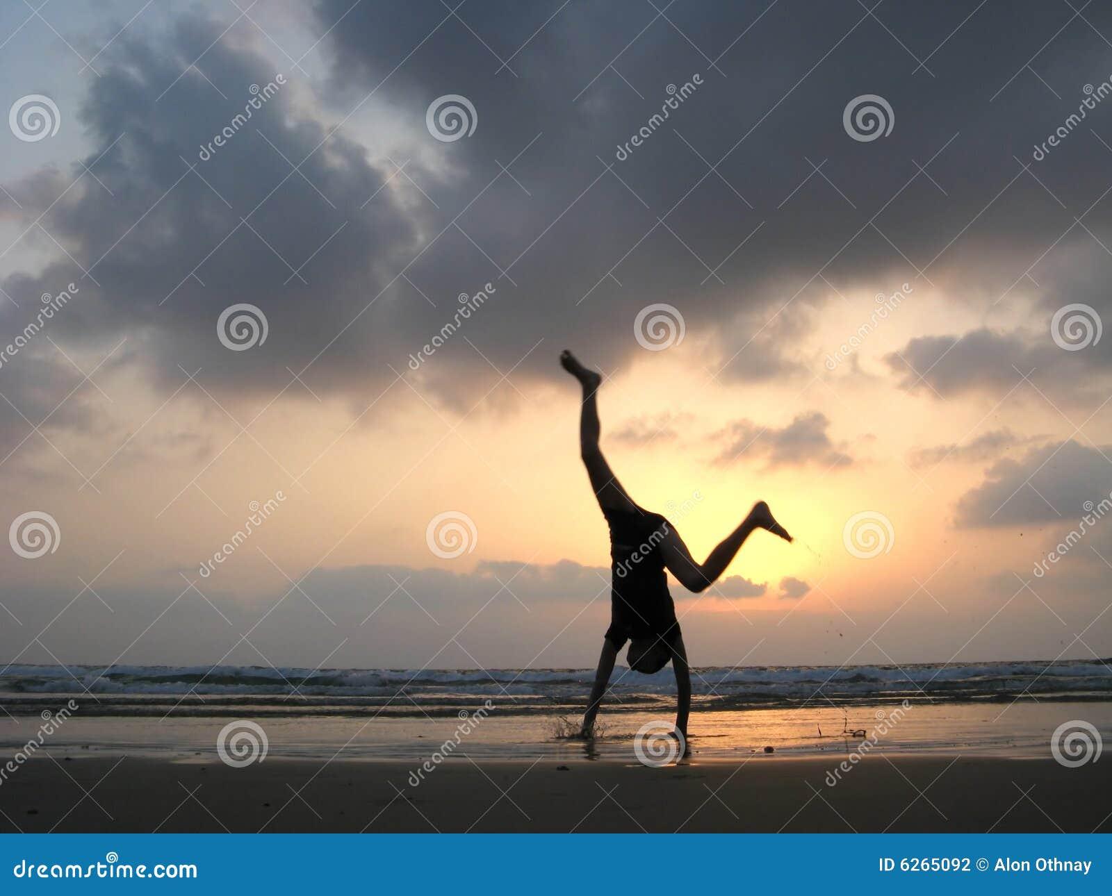 Silueta del cabrito en la playa