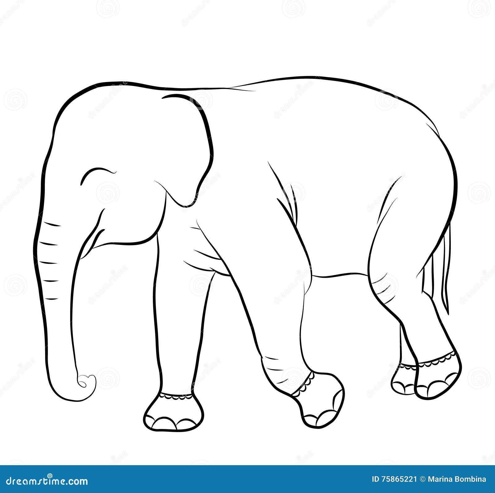 Vistoso Página Para Colorear Elefante Foto - Dibujos Para Colorear ...