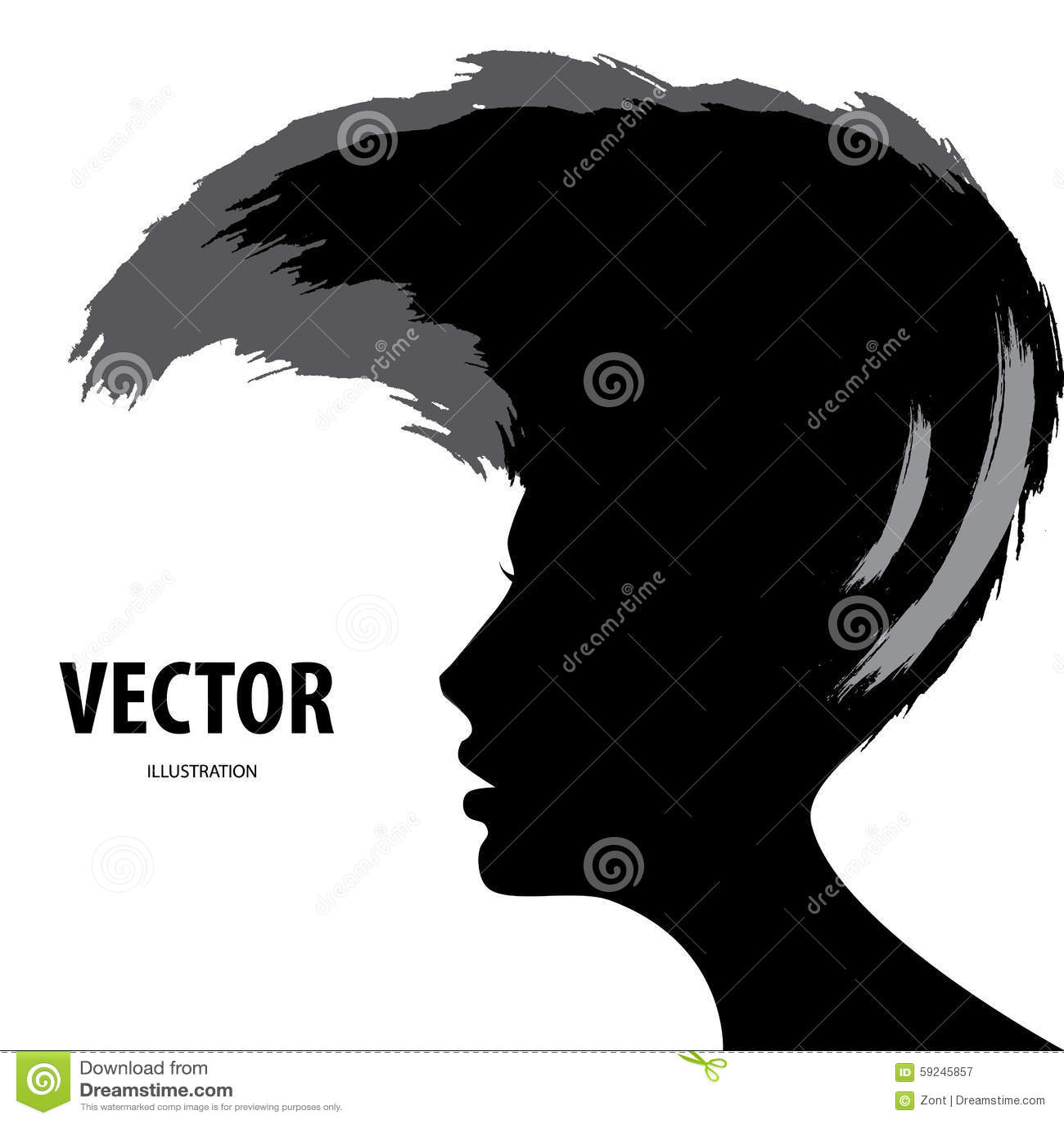 Download Silueta Del Estilo De Pelo De La Mujer Ilustración del Vector - Ilustración de pista, hembra: 59245857