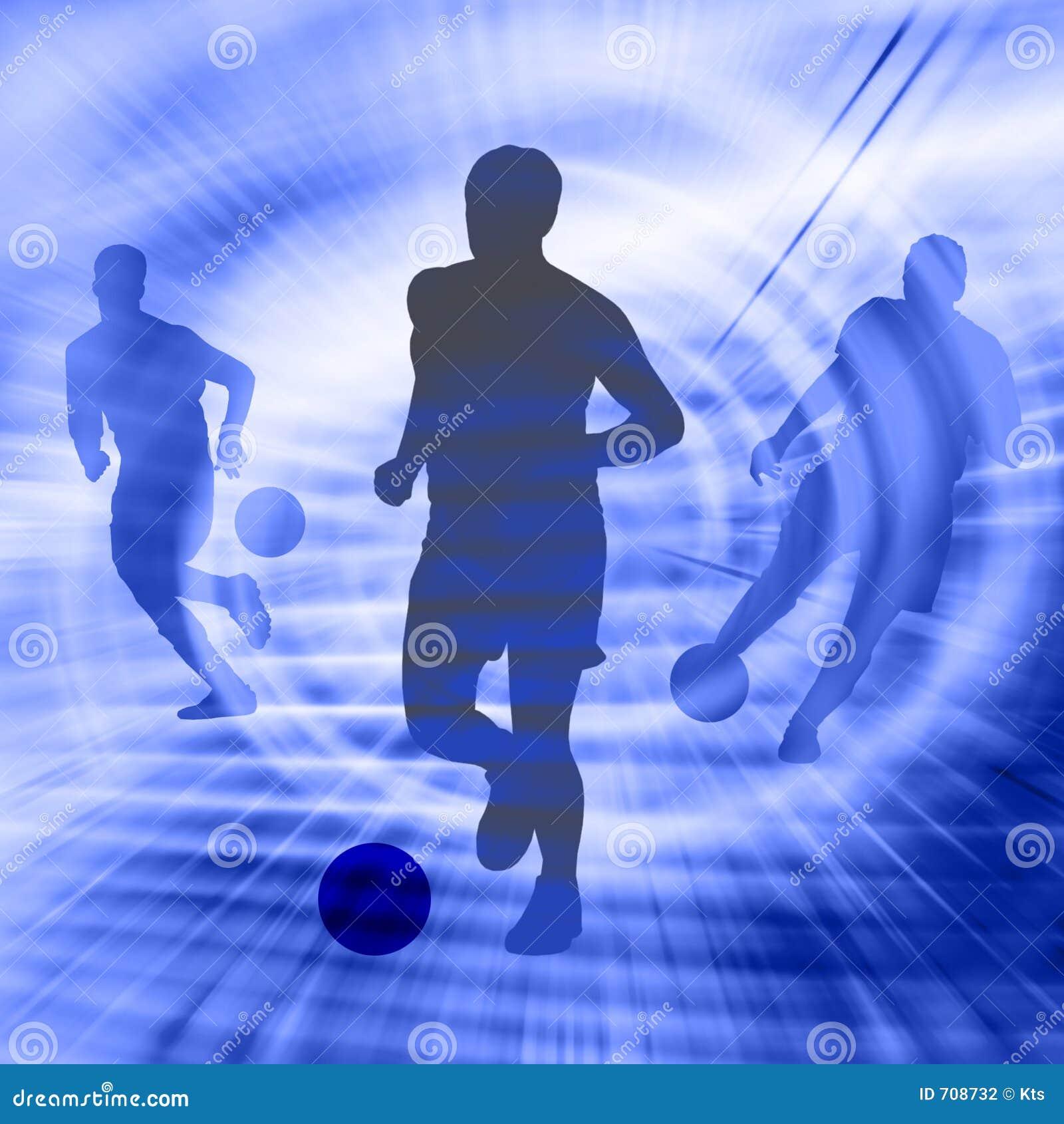 Silueta del fútbol