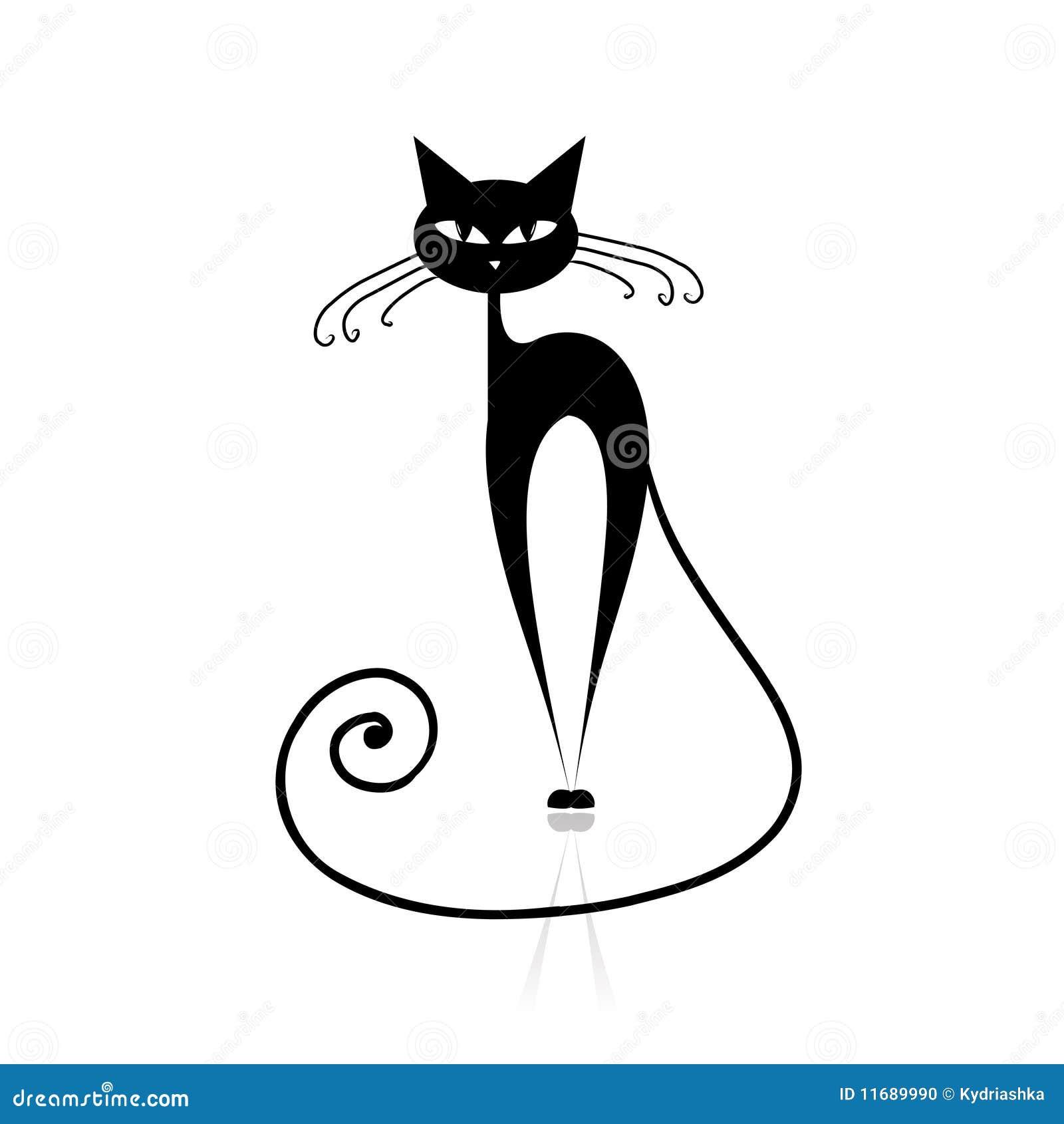 silueta de gato negro - photo #29