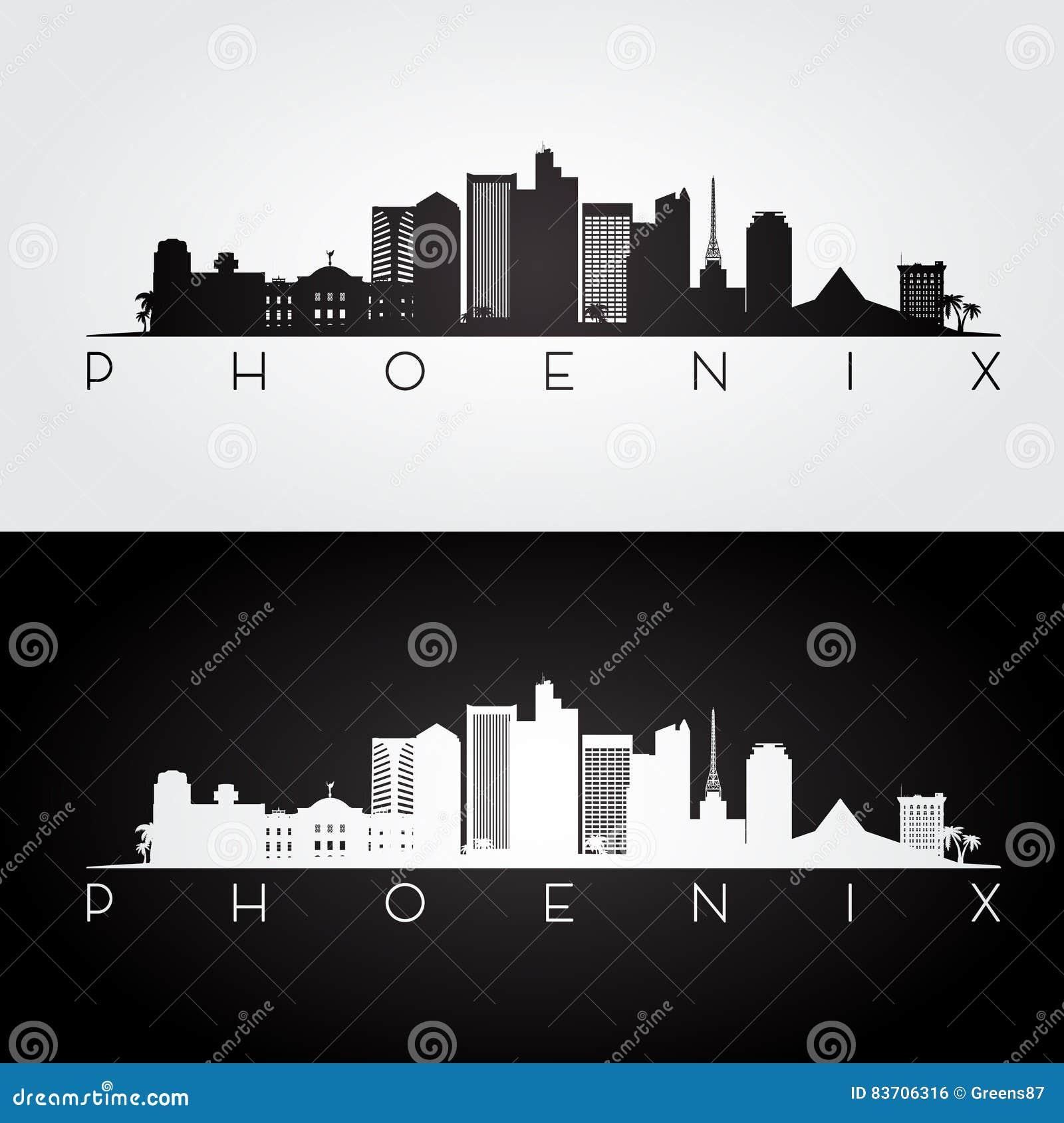 Silueta del horizonte de Phoenix