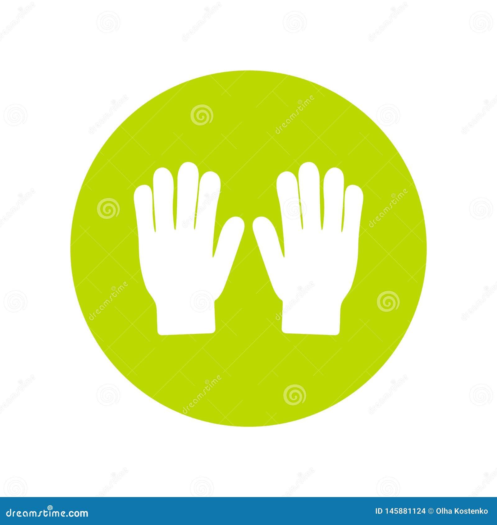 Silueta del icono del vector de los guantes que cultiva un huerto Herramienta de riego del jard?n en estilo plano