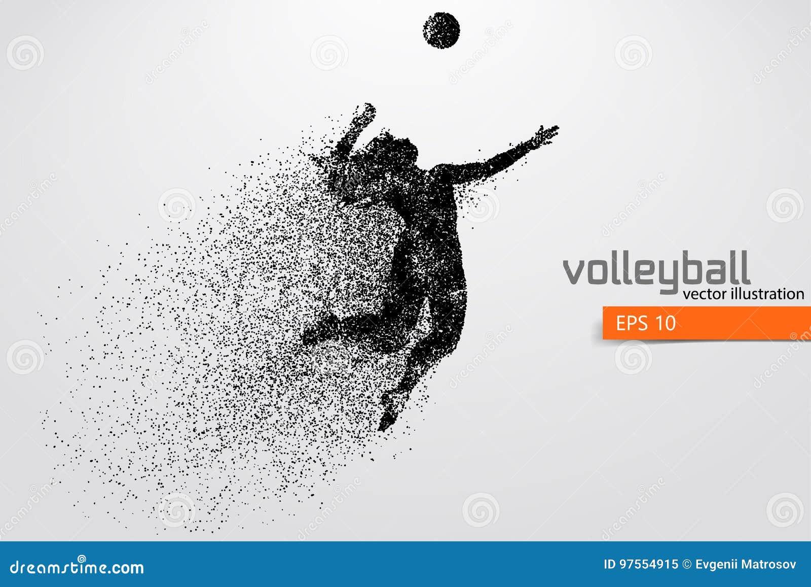 Silueta del jugador de voleibol