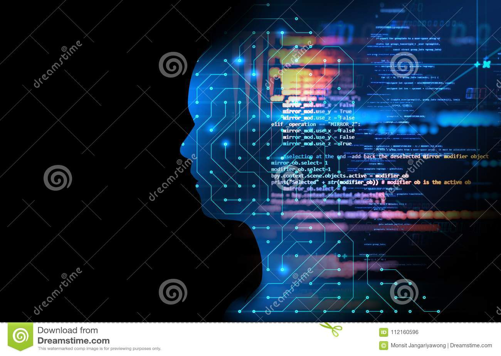 Circuito Virtual : El símbolo virtual de la moneda de bitcoin aparece desde el
