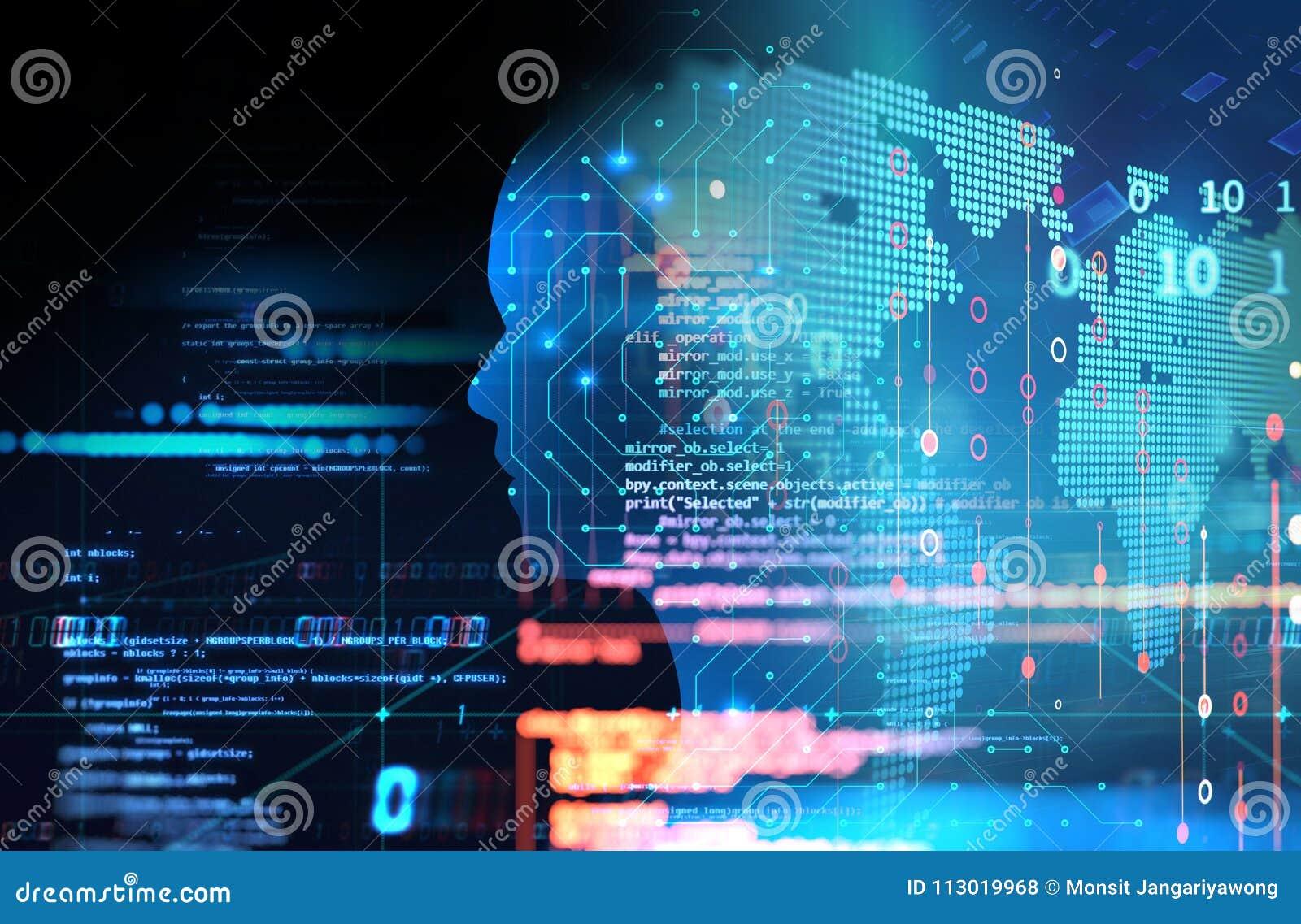Circuito Virtual : Ilustración de mano robótica tocar circuito digital con el dedo