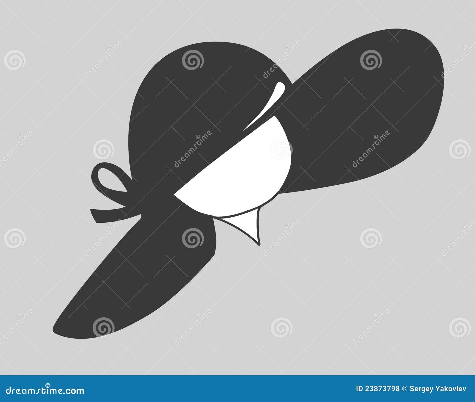 Silueta del sombrero