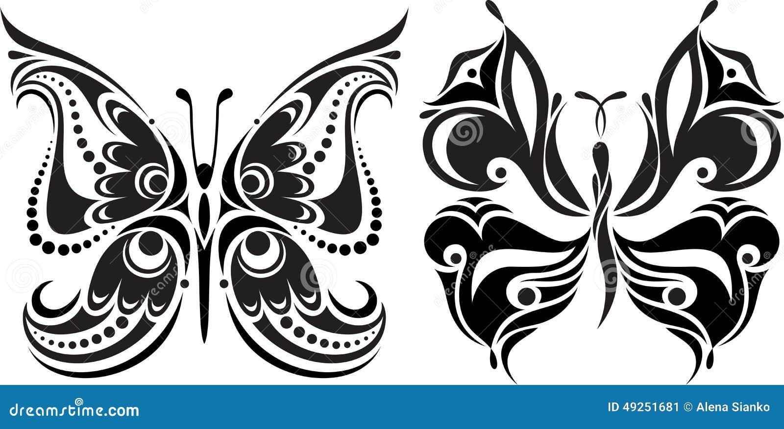 Colorear En Línea: Silueta Delicada De La Mariposa Dibujo De Líneas Y De