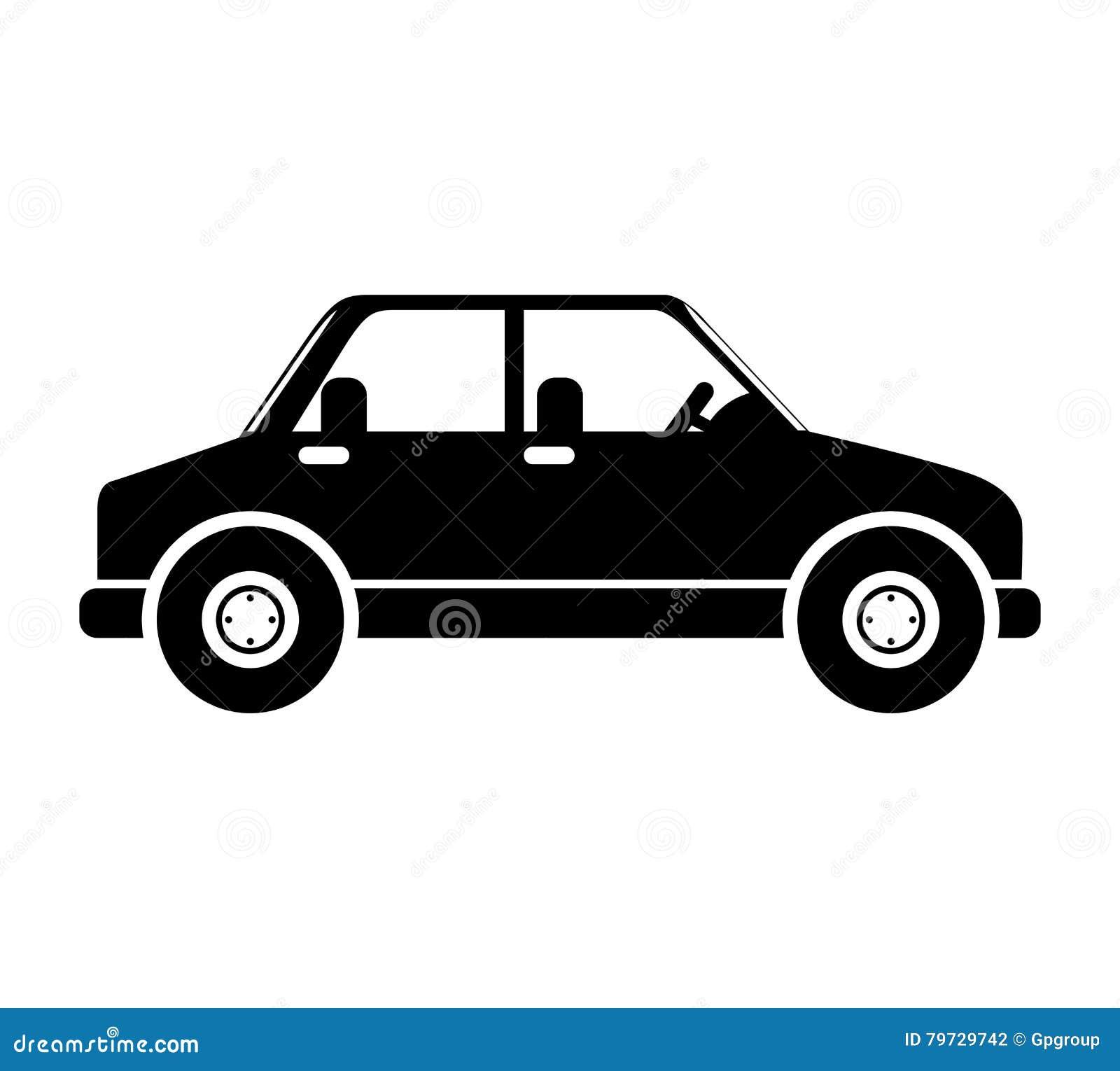 Silueta en el color negro del vehículo