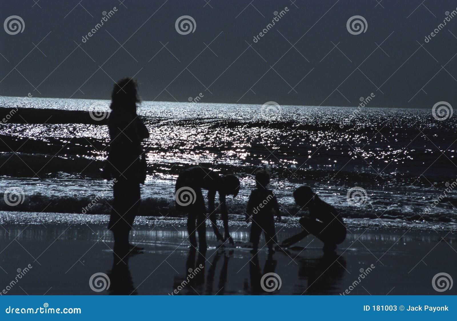 Silueta en el océano