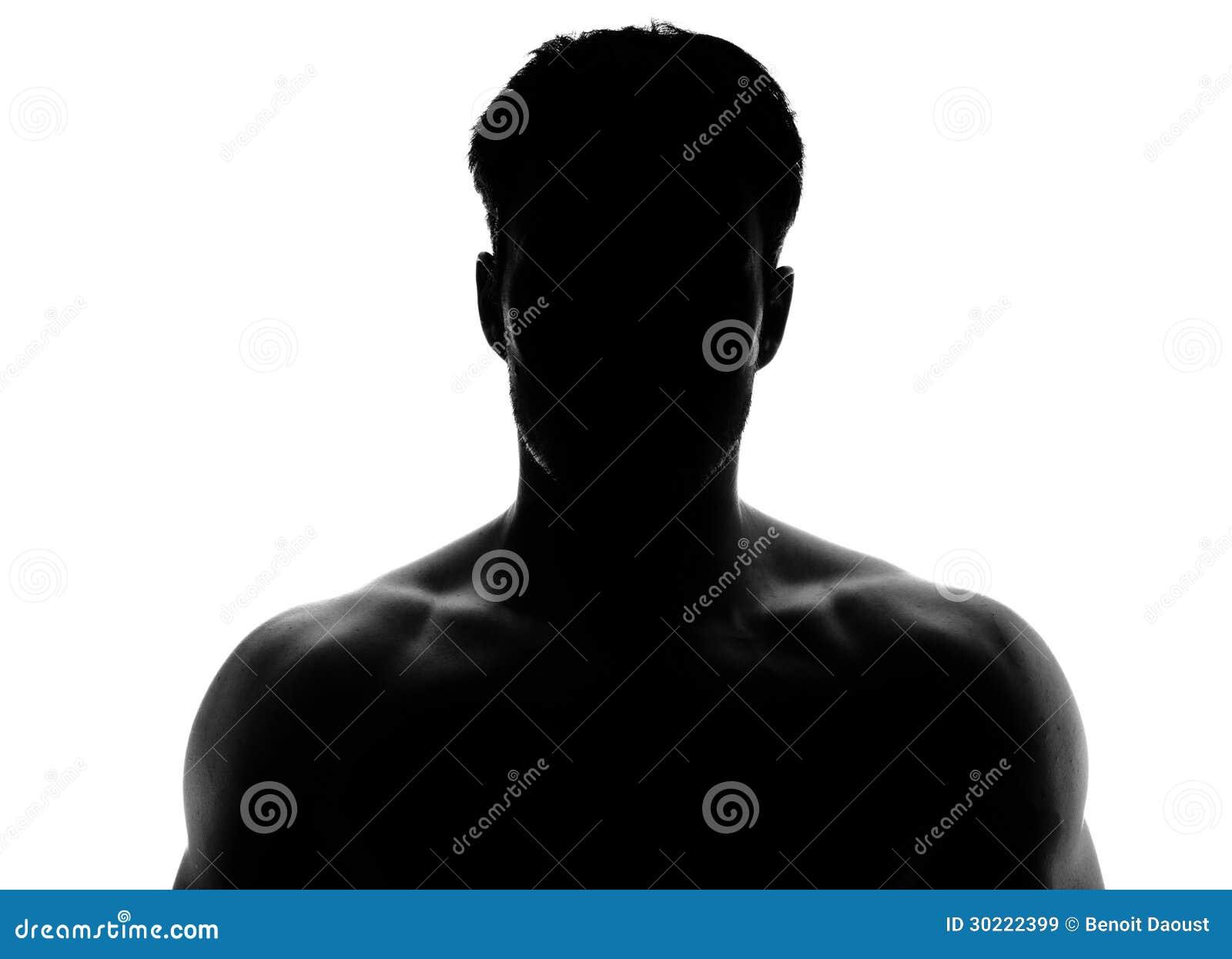Silueta Muscular De Un Hombre Joven Imágenes De Archivo