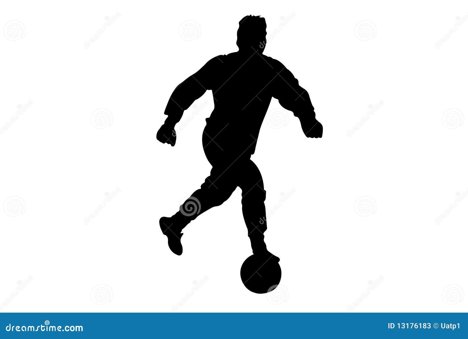 Футболист рисунок