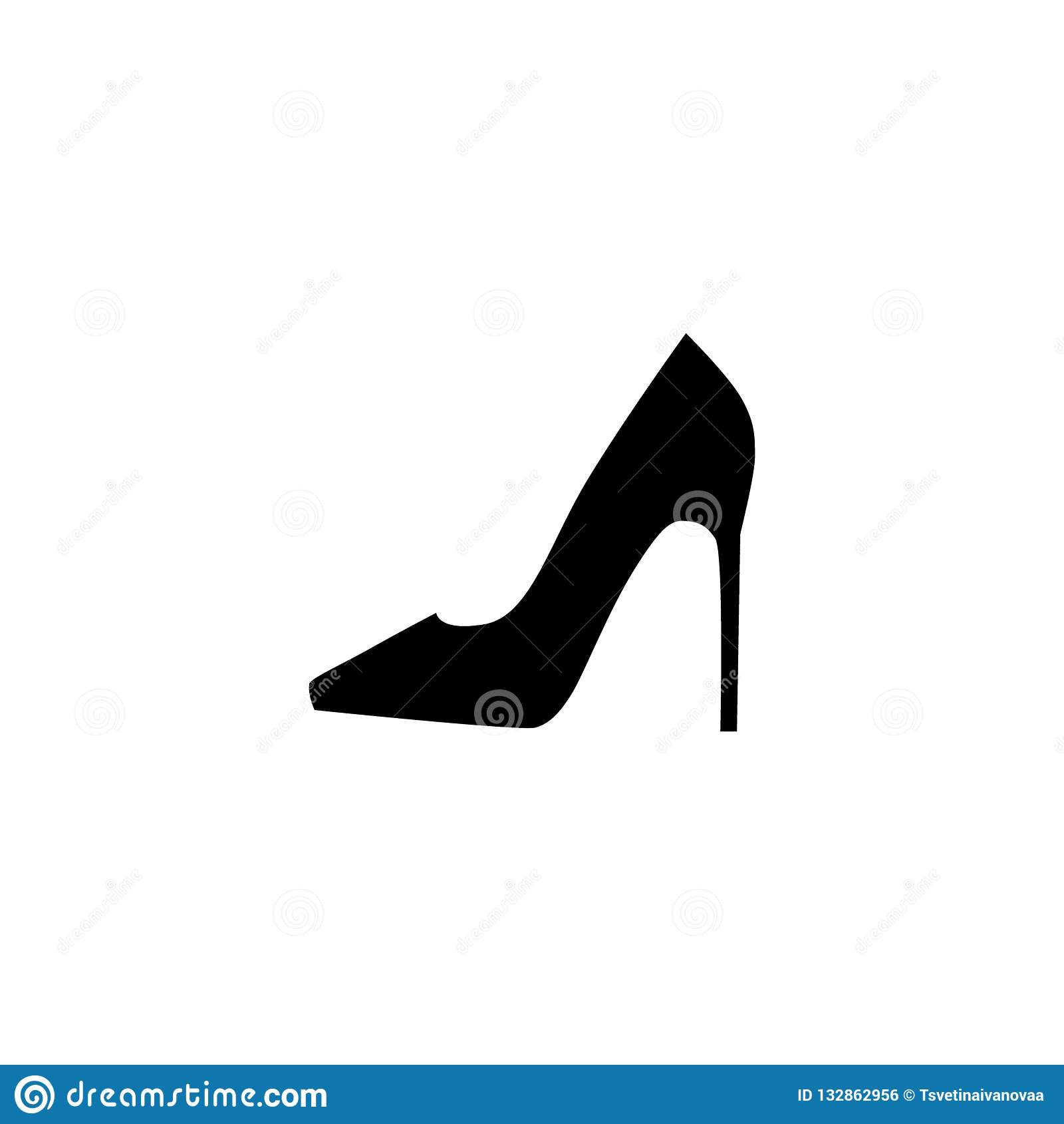 Del Alto Zapato Femenino Vector Simple Silueta Tacón wHRgFzq