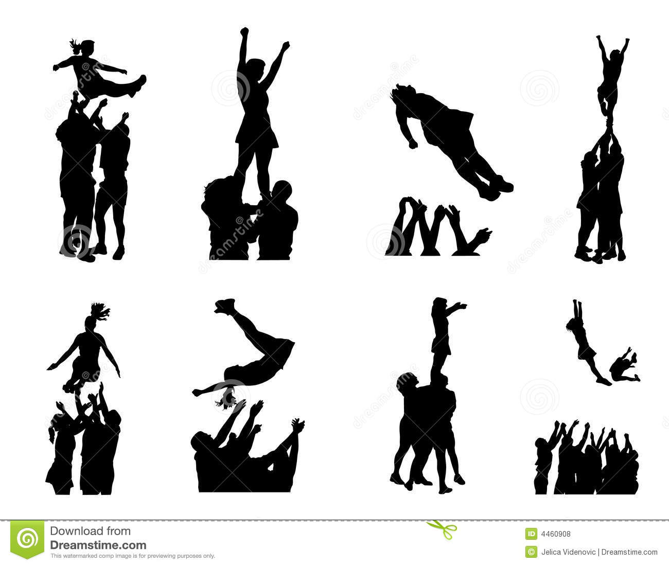 Cheer Toe Touch Silhouette Cheerleader silhouette images