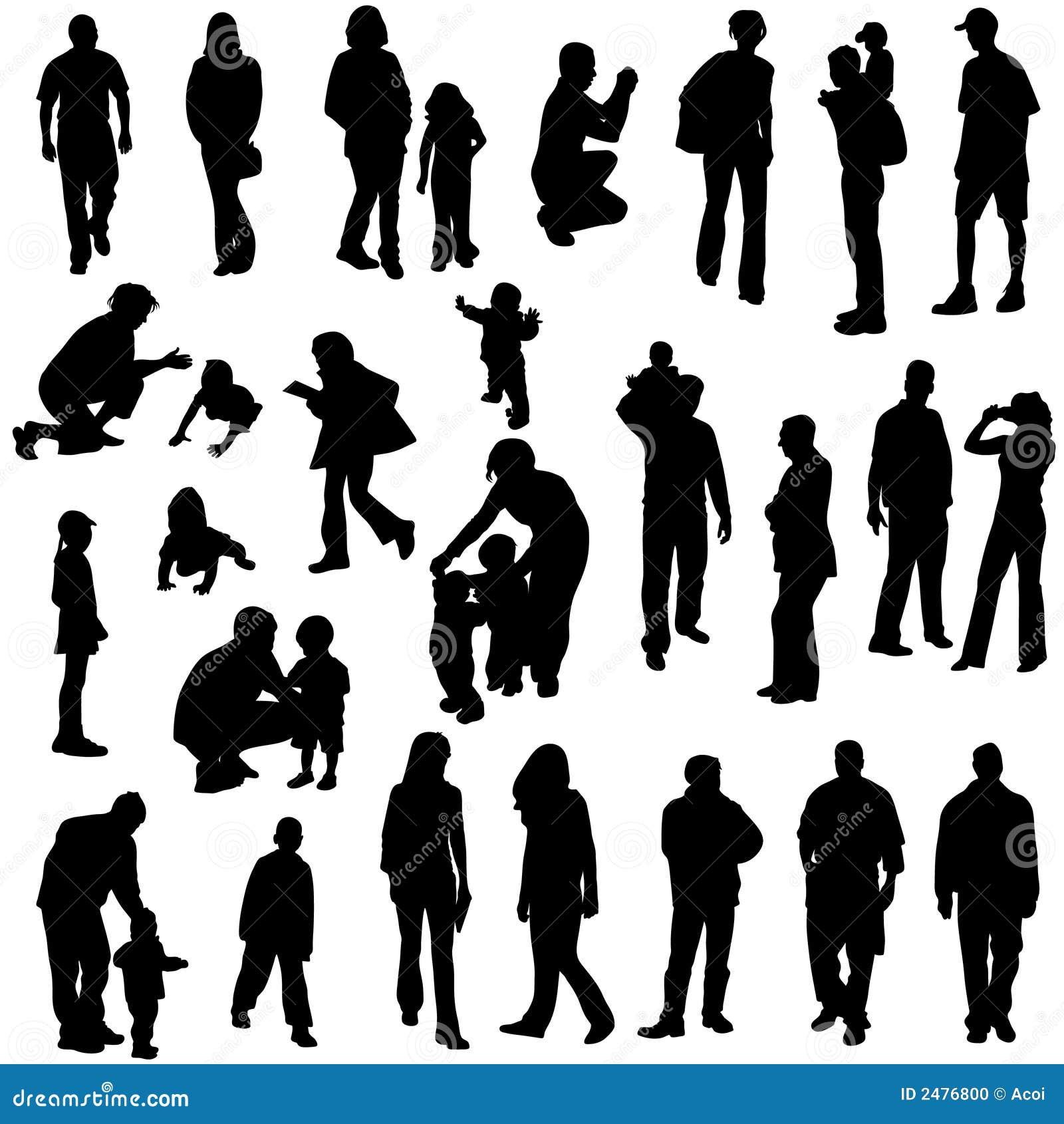 Siluetas de la gente foto de archivo imagen 2476800 - Figure libre architecture ...