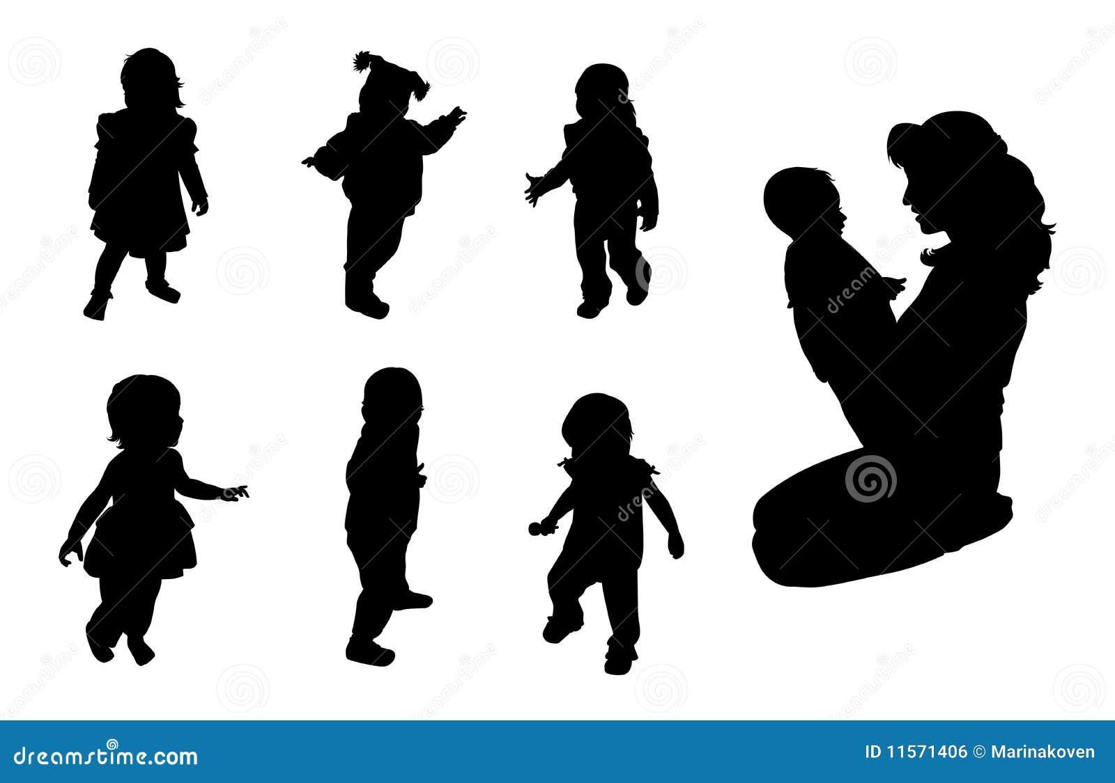 Siluetas De Los Bebés