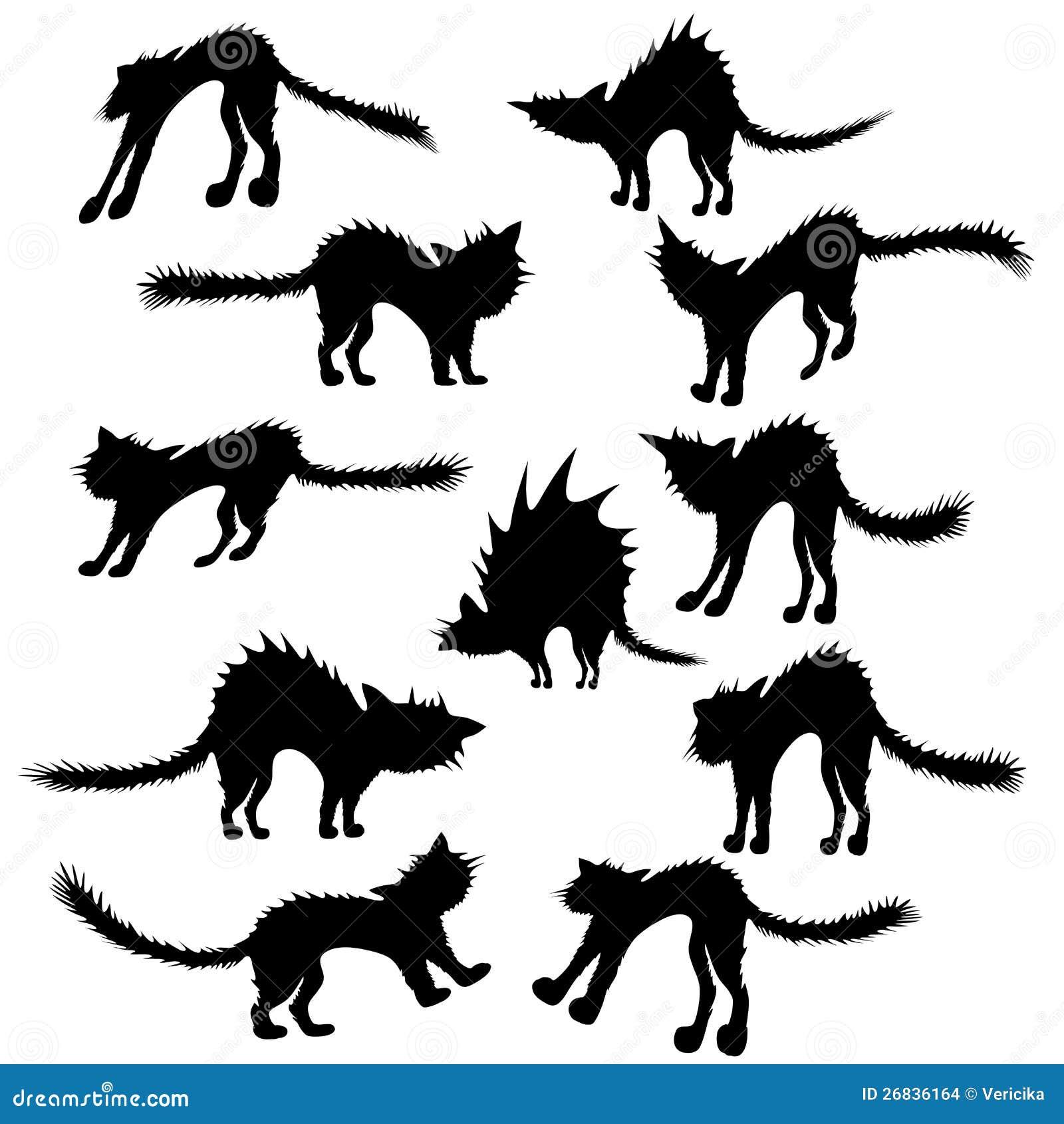 silueta de gato negro - photo #33