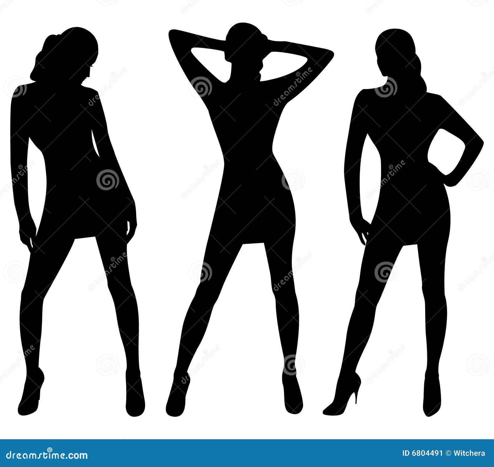 Siluetas de mujeres atractivas