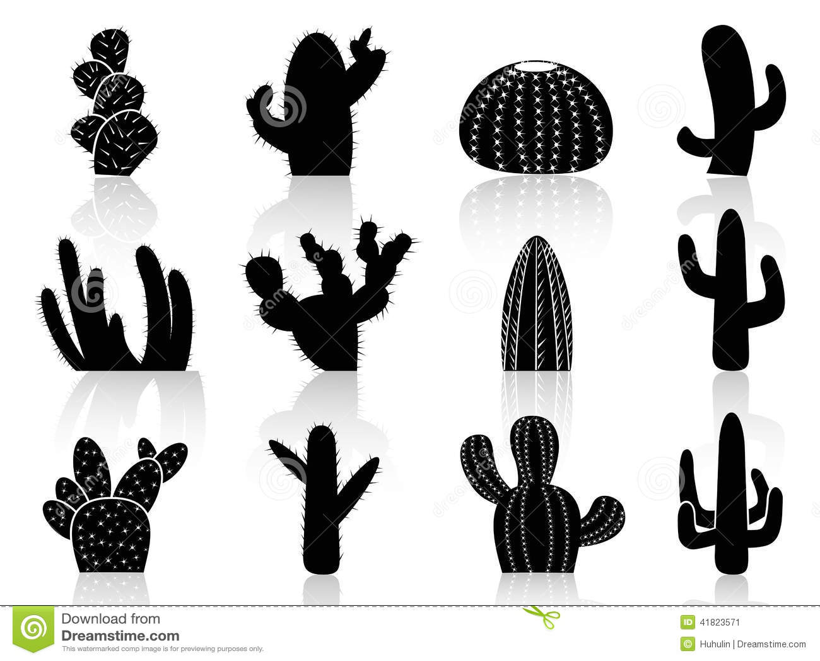 Siluetas del cactus