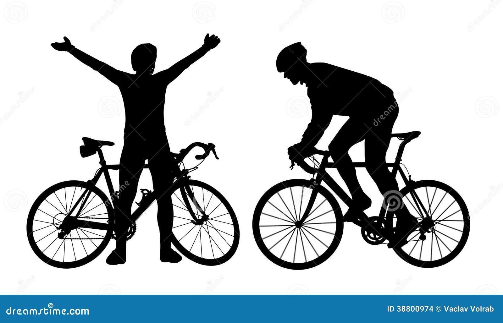 Siluetas del ciclista foto de archivo imagen de rueda - Cycliste dessin ...
