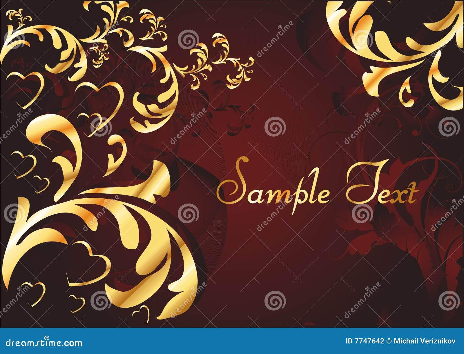 Siluetas Del Oro De Corazones Fotografía de archivo - Imagen: 7747642