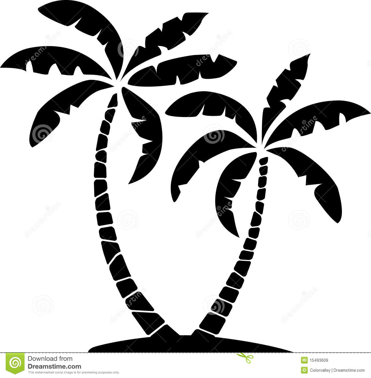 Black and white palm tree pictures