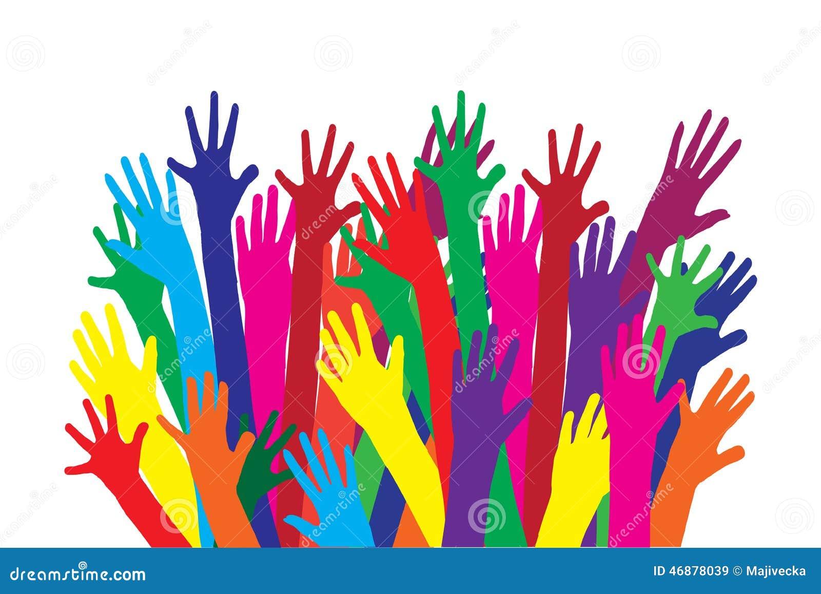 Manos Unidas De Colores