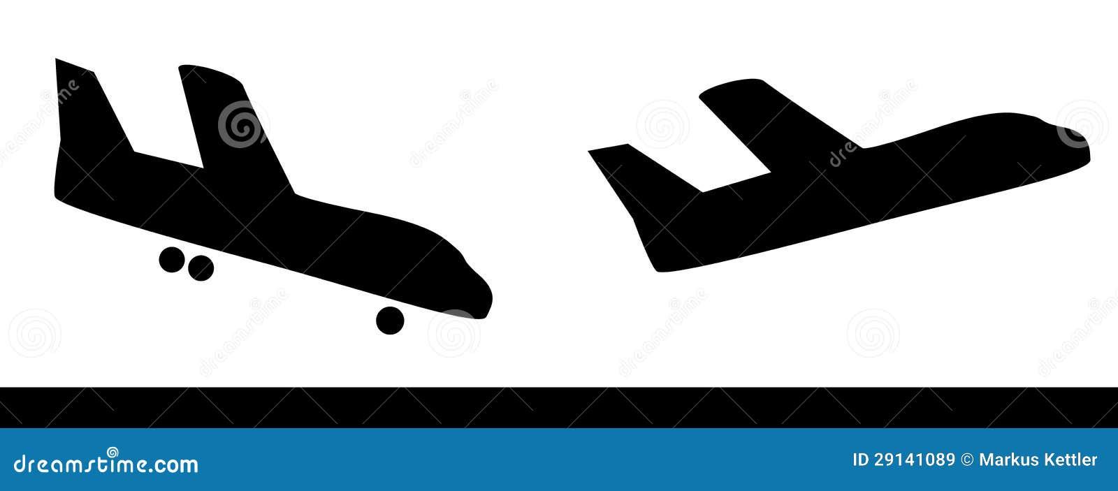 Siluetas del vuelo