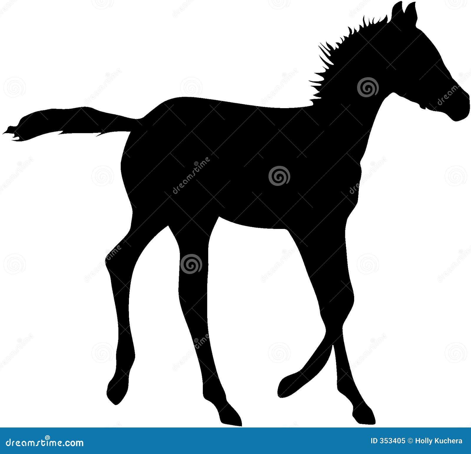 Siluetta corrente del Foal