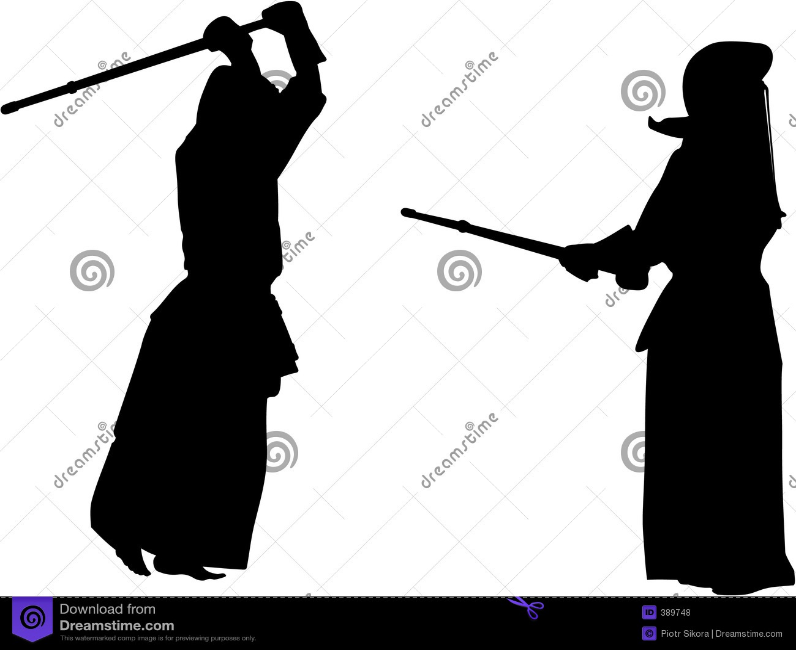 Siluetta dei combattenti #2 di Kendo