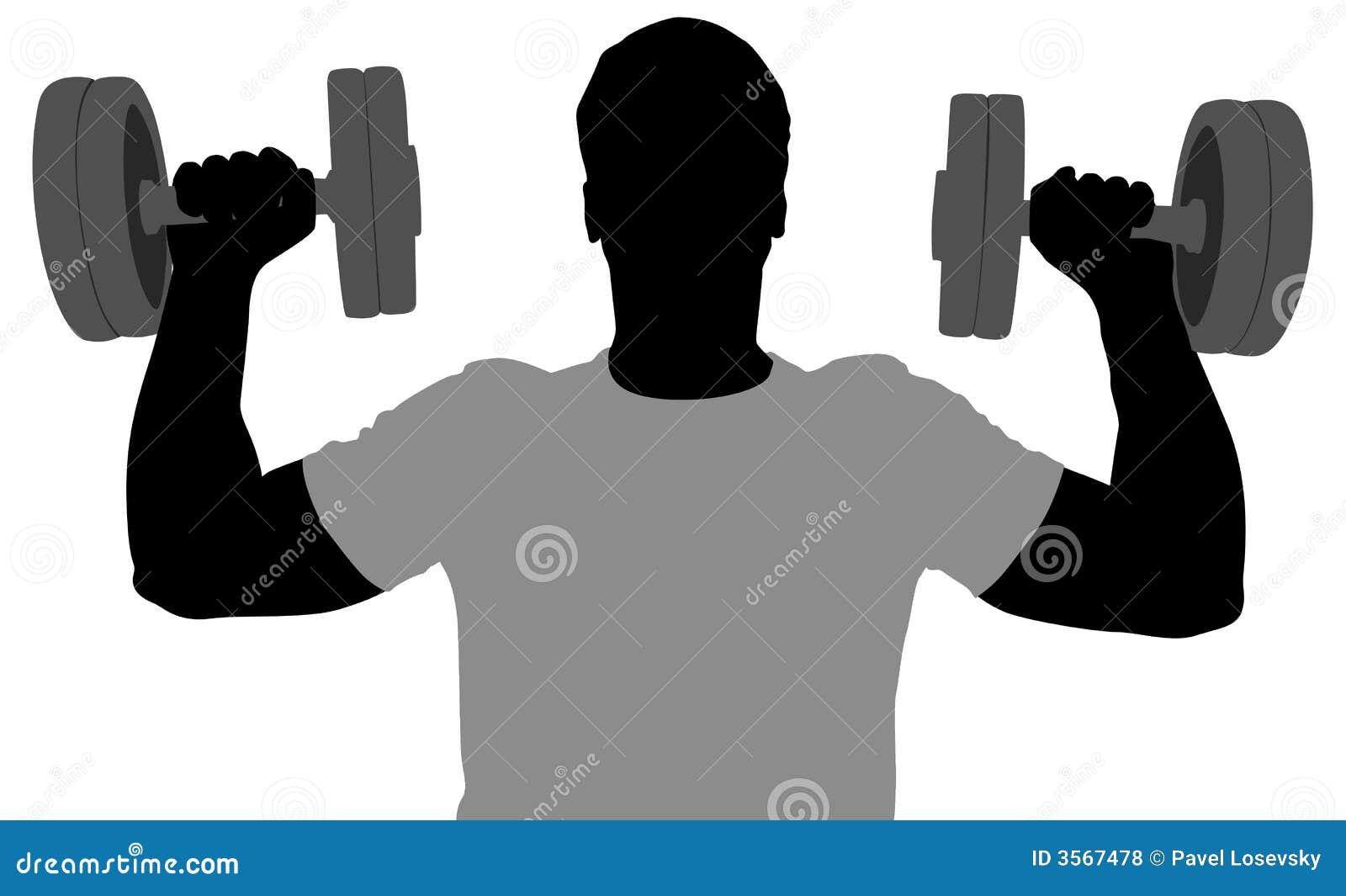 Siluetta dell uomo di ginnastica